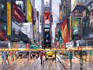 Times Square tour signed limited edition paper print from Henderson Cisz - unframed and mounted