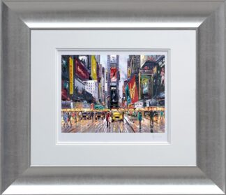 Times Square tour signed limited edition paper print from Henderson Cisz - Framed in the artists recommended Frame