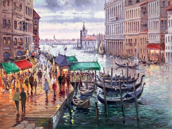 Vacation in venice signed limited edition paper print from Henderson Cisz - unframed and mounted