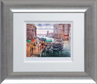 Vacation in venice signed limited edition paper print from Henderson Cisz - Framed in the artists recommended Frame