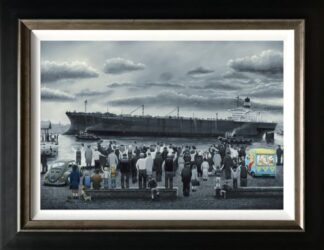 off she goes signed limited canvas print from Leigh Lambert - Framed in the artists recommended Frame
