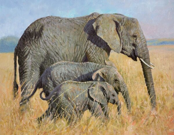 Family Outing Signed Limited canvas print on board by Tony Forrest - unframed