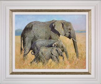 Family Outing Signed Limited canvas print on board by Tony Forrest - Framed in the artists recommended frame
