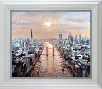 last rays signed limited Paper print from Tom Butler - framed in the artists recommended frame