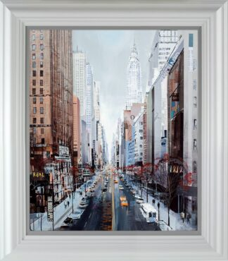 Streets Ahead signed limited Paper print from Tom Butler - framed in the artists recommended frame