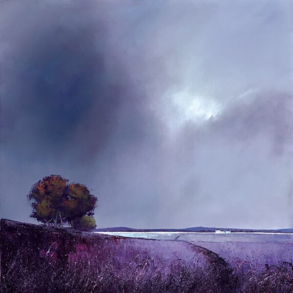 Lavender Skies Signed Limited canvas print on board by Barry Hilton - unframed