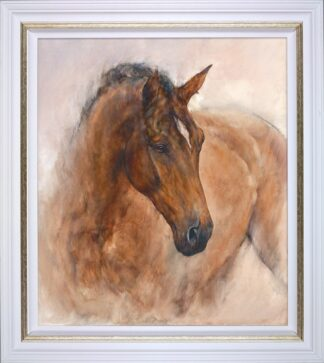 Patience Signed Limited canvas print on board by Gary Benfield - Framed in the artists recommended frame