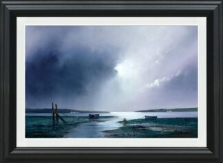 Violet Dawn Signed Limited canvas print on board by Barry Hilton - Framed in the artists recommended frame