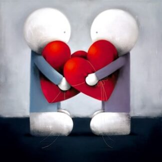 Looking After My Heart Signed Limited edition paper print by Doug Hyde framed in the artists recommended frame