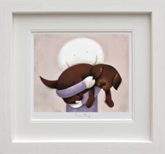 Love Hug Signed Limited edition paper print by Doug Hyde framed in the artists recommended frame