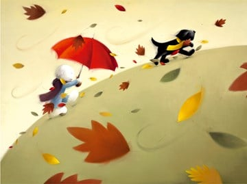 Park Run Signed Limited edition paper print by Doug Hyde unframed