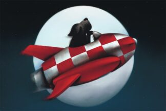 the moon and back Signed Limited edition paper print by Doug Hyde unframed