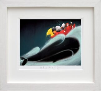 Whale Of A Time Signed Limited edition paper print by Doug Hyde framed in the artists recommended frame