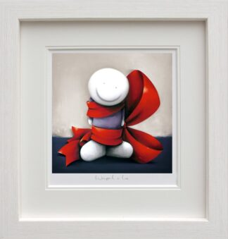 Wrapped in Love Signed Limited edition paper print by Doug Hyde framed in the artists recommended frame