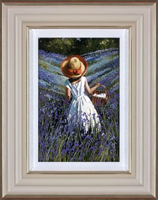 Bluebell Haven Signed Limited Canvas print by Sherree Valentine Daines framed in the artists recommended frame