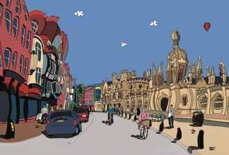 Kings College - signed limited edition print by Dylan Izaak