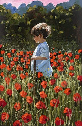 Lost Amongst The poppies Signed Limited Canvas print by Sherree Valentine Daines unframed