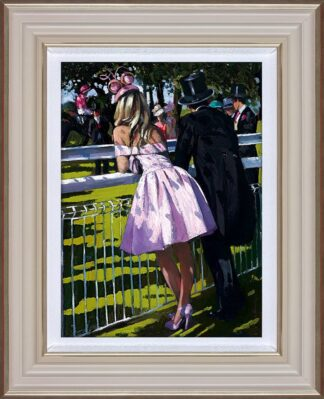 Vision in pink Signed Limited Canvas print by Sherree Valentine Daines framed in the artists recommended frame