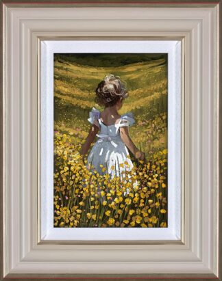 Wildflower Meadow Signed Limited Canvas print by Sherree Valentine Daines framed in the artists recommended frame