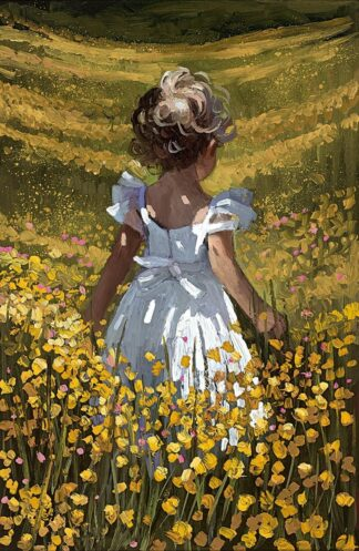 Wildflower Meadow Signed Limited Canvas print by Sherree Valentine Daines unframed