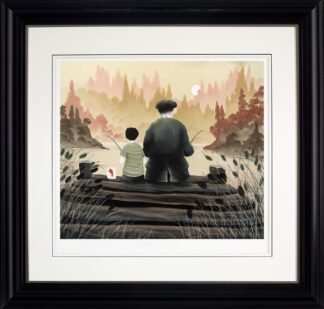All Our Yesterdays - Signed Limited Edition paper print by Mackenzie Thorpe Framed in the artists recommended frame