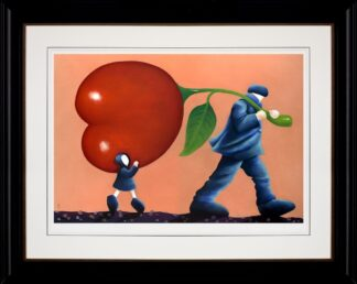 Helping Dad - Signed Limited Edition paper print by Mackenzie Thorpe Framed in the artists recommended frame