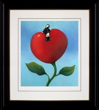 Love And Life - Signed Limited Edition paper print by Mackenzie Thorpe Framed in the artists recommended frame