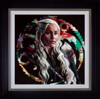 Mother Of Dragons - Signed Limited Edition hand embellished canvas on board print by Zinsky Framed in the Artists Recommended Frame