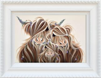 Precious McMoments - Signed Limited Edition hand embellished canvas print by Jennifer Hogwood Framed in the artists recommended frame