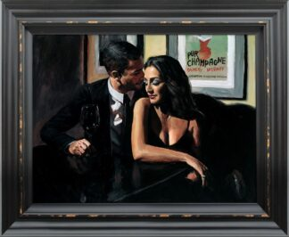 Proposal at Hotel Du Vin - signed limited edition hand embellished canvas print by Fabian Perez framed in the artists recommended frame