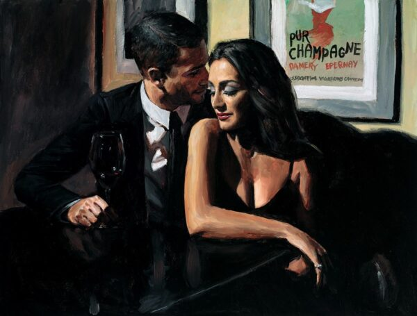 Proposal at Hotel Du Vin - signed limited edition hand embellished canvas print by Fabian Perez