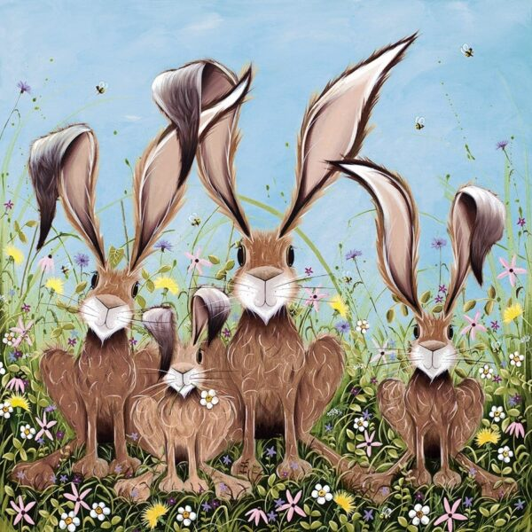 The McHoppers - Signed Limited Edition hand embellished canvas print by Jennifer Hogwood