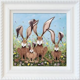 The McHoppers - Signed Limited Edition hand embellished canvas print by Jennifer Hogwood Framed in the artists recommended frame