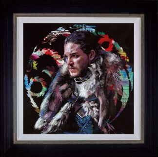 Winter Is coming - Signed Limited Edition hand embellished canvas on board print by Zinsky Framed in the Artists Recommended Frame
