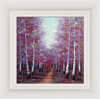 Season Of light signed limited edition hand embellished canvas print by Inam. Framed in the artists recommended frame.