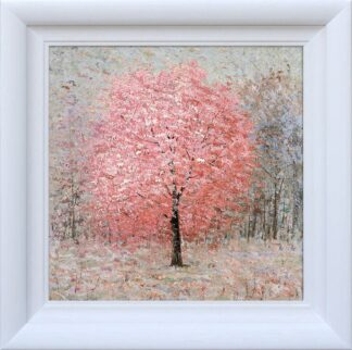 shimmering Rose - Signed Limited Edition hand embellished canvas print by Inam Framed in the Artists recommended frame