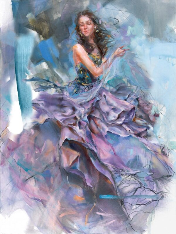 Woven Dreams I Signed limited edition stretched canvas print by Anna Razumovskaya