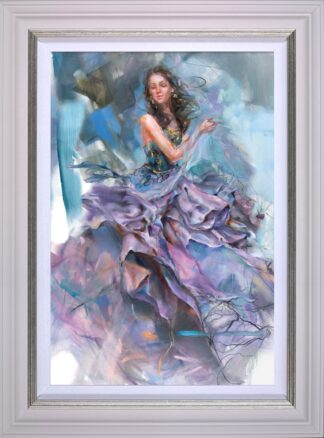Woven Dreams I Signed limited edition stretched canvas print by Anna Razumovskaya Framed in the artists recommended frame