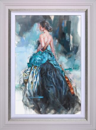 Woven Dreams II Signed limited edition stretched canvas print by Anna Razumovskaya Framed in the artists recommended frame
