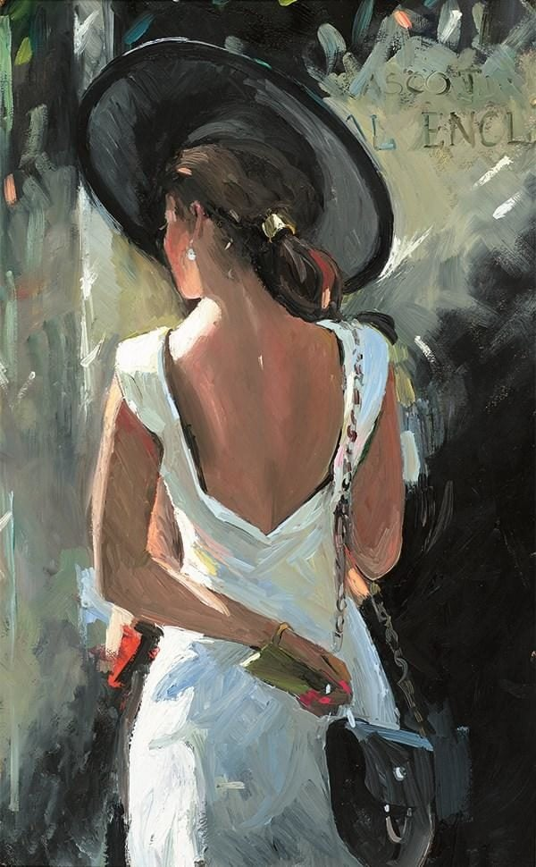 Ascot Belle I Signed limited edition canvas print from Sherree Valentine Daines