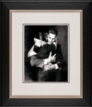 The Embrace II - Signed Limited edition paper print by Fabian Perez. Framed in the Artists Recommended Frame
