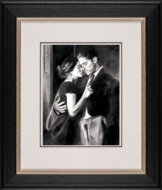 The Train Station V signed limited edition paper print by Fabian Perez. Framed in the artists recommended frame.