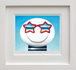 sun sea and sunglasses II Framed By Doug Hyde