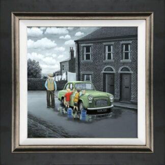 Dont forget them wheels canvas framed by Leigh Lambert