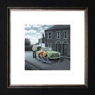 Dont forget them wheels paper framed by Leigh Lambert