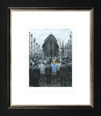 The Ship that Dad Built Framed Paper by Leigh Lambert