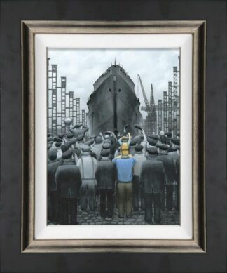 Th Ship that Dad Built Canvas Framed by Leigh Lambert