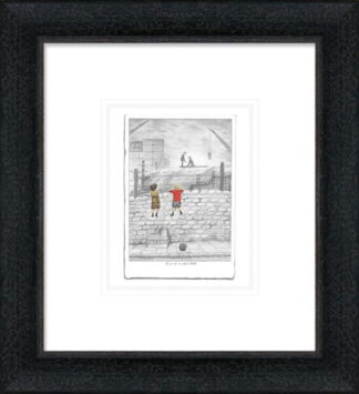 Give us a Wave Dad Sketch Framed by Leigh Lambert