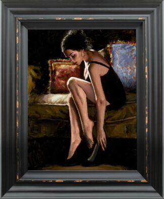 blue and red iii Framed by Fabian Perez
