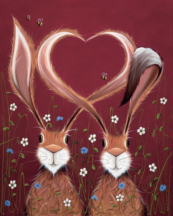 Share the Love unframed by Jennifer Hogwood